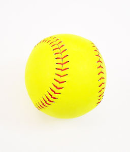 "12"" Yellow Leather Practice Softball pictures & photos"