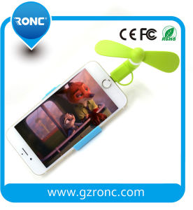 Hot Selling 2in1 Mini Fan for Mobile Phone Andriod/iPhone pictures & photos