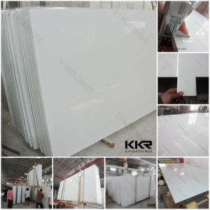 High Quality 20mm Pure White Artificial Quartz Stone Sheet pictures & photos