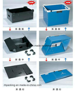 Folding Box with Printing/PP Hollow Box for Storage & Packaging & Turnover Plastic Box pictures & photos