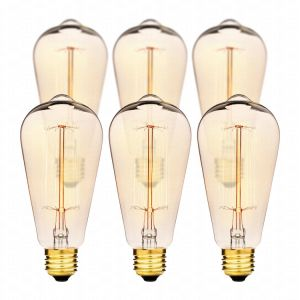 Hudson Lighting Vintage Antique Style Edison Bulb - 4 Pack - St64 - Squirrel Cage Filament - 230 Lumens - Dimmable pictures & photos