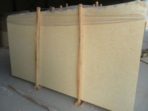 Sunny Beige Marble Slab for Countertops and Building Materials