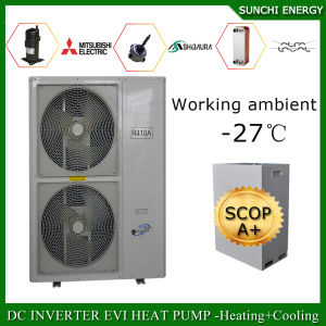 Sweden -25c Cold Winter Radiator Heating Room + Dhw 12kw/19kw/35kw/70kw/105kw Air Source Evi Monoblock Heat Pump Water Heater pictures & photos