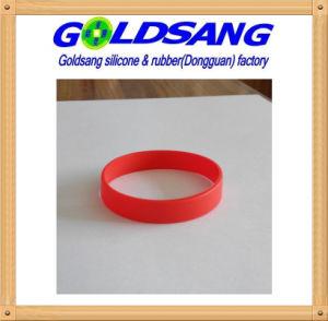 2016 Customized Logo Printing Silicone Bracelet pictures & photos