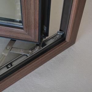 Aluminium Wood Casement Window with Multi Lock K03021 pictures & photos