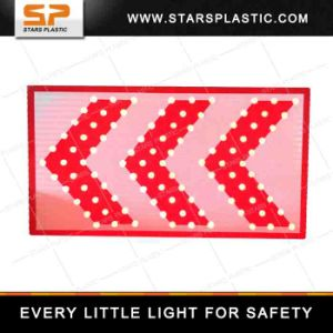 Solar LED Arrow Direction Warning Traffic Sign Board pictures & photos