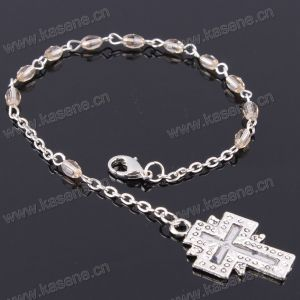 4mm Ab Champagne Flat Crystal Beads Religious Bracelet pictures & photos