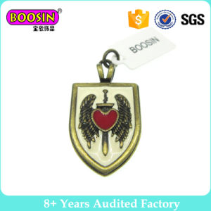 Shield Pendant Charms with Heart and Wings pictures & photos