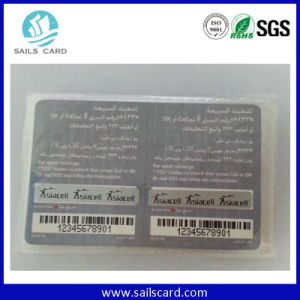 UV Dod Printed Barcode & Serial No. Scratch PVC Card pictures & photos