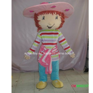 Factroy Sale Cartoon Character Mascot Costume Strawberry Shortcake Girl