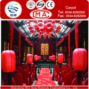 Decovative Red Exhibition Wedding Carpet /Wedding Hall Mat/ Stage Carpet