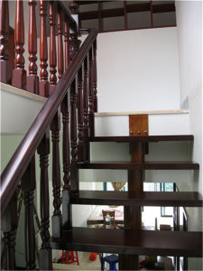 Retro All Solid Wood Titanium Steel Staircase pictures & photos