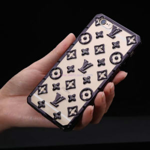 Wholesale Spot Drilling LV TPU Electroplate Mobile Phone Case for iPhone/Samsung pictures & photos