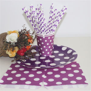 High Quality Colorful Papar Straws Fancy Disposable Paper Straws pictures & photos