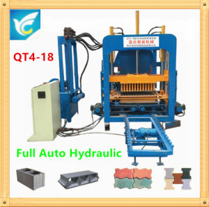 Fully Automatic Concrete Hollow Brick Machine with Hydraulic Press System pictures & photos
