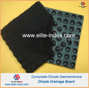 HDPE Dimple Geomembrane Composite Black Color PP Nonwoven Geotextile pictures & photos