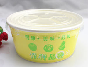 16oz Disposable Custom Printed Frozen Yogurt & Ice Cream Paper Cup, Paper Bowls, Ice Ream Containers pictures & photos
