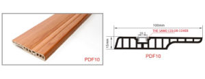 Wear Resistant PVC Skirting Boards UV Coating Matched Your Floor pictures & photos