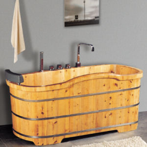 Wooden Bathroom SPA Soaking Bath Tub (NJ-052) pictures & photos