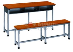 High Quality Double School Student Desk & Chair pictures & photos