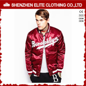 Custom Embroidered Men Varsity Satin Baseball Jackets Wholesale pictures & photos