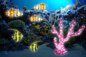 Landscaping Lighting LED Pink Coral Motif Light Ocean Park Decorations pictures & photos