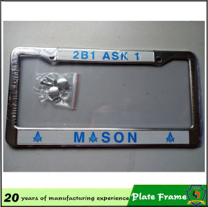 Customized Wholesale Metal Car License Plate Frames pictures & photos