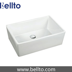 Square Ceramic Kitchen Sink From Bellto Sanitary Ware (3369B) pictures & photos