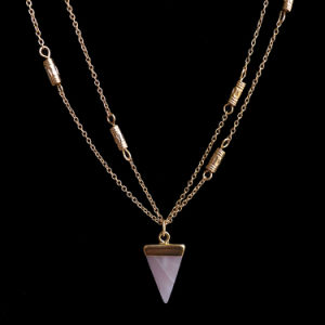 Hot Fashion Layer Necklace Jewelry Triangle Pendant Necklace Designs Women pictures & photos