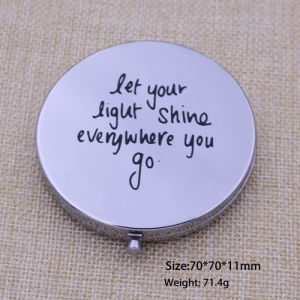 Promotion Gift Cosmetic Mirror Silver Mirror pictures & photos