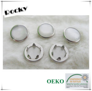Eco-Friendly Round Metal Prong Pear Snap Button for Kids pictures & photos