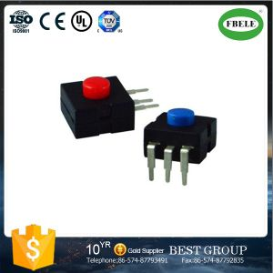 Small Push Button Switch with LED, Mini Push Button Switch, The Flashlight Button Switch a Miner′s Lamp Dedicated Button Switches (ON - OFF) pictures & photos