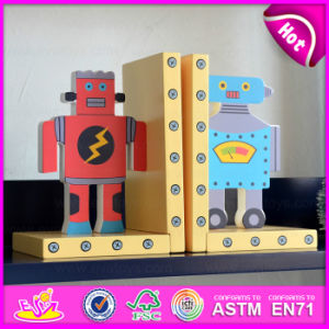 2015 Brand New Wooden Robot Bookend, Hot Sale Wood Robot Bookend, Lovely Bookend Robot Wooden W08d046 pictures & photos