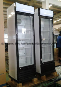 Upright Two Glass Door Showcase Refrigerator with Ce pictures & photos