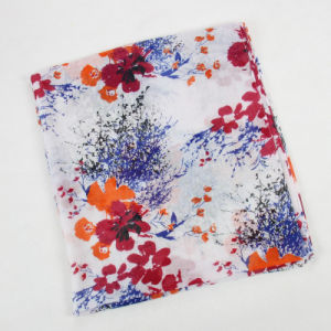 China Scarf Factory Cotton Voile Flower Scarf pictures & photos