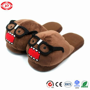 Monster Wear Glass Interesting Plush Shoe Soft Brown Slippers pictures & photos
