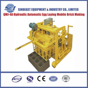 Hydraulic Automatic Egg Laying Mobile Brick Making Machine (QMJ-4A) pictures & photos