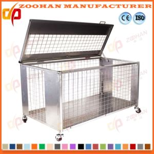 Industrial Stackable Galvanized Steel Storage Container Wire Mesh Cage (Zhra29) pictures & photos