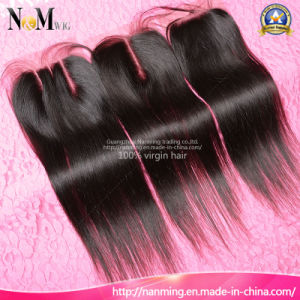 5A 6A 7A Grade Unprocessed Virgin Human Hair Lace Closure Bleached Knots pictures & photos
