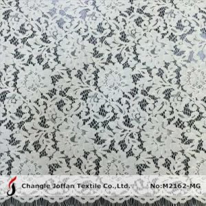 Eyelash Flower Lace Fabric for Wedding Dress (M2162-MG) pictures & photos