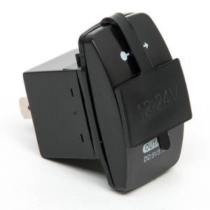 DC 24V Car Auto Boat Motorcycle Dual USB Charger Power Adapter (DS2013-L) pictures & photos