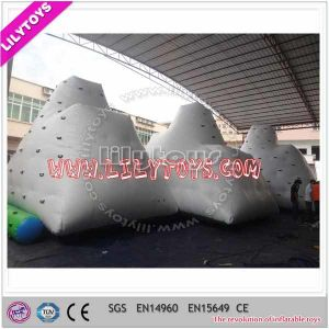 SGS Popular Water Park Hot Welding Inflatable Iceberg Water Toy