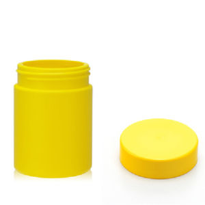8 Oz HDPE Yellow UV Glossy Plastic Bottle with Plastic Cap pictures & photos