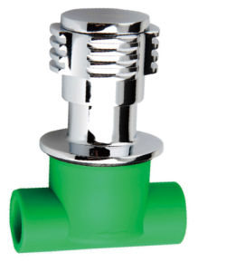 PP-R Concealed Valve with Porcelain Core pictures & photos