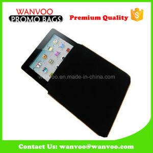 Drawstring Black Wedding Packaging Velvet Fabric Bag for iPad pictures & photos
