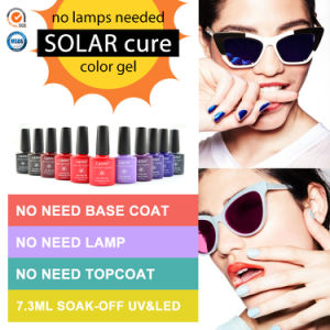 #51263c Manicure Canni Natural Drying One Step Gel Polish No Need Base and Top Soak off Non Taxic Nail Lacquer