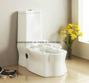 060 Ceramic Siphonic Water Closet, S Trap One Piece Squatting Toilet pictures & photos