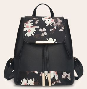 2016 Black Ladies Printed PU Backpack, New Arrival pictures & photos