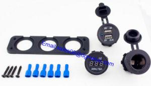 12V Cigarette Lighter Plug+ Digital AMP Voltmeter Marine Car USB Flush Mount Socket pictures & photos