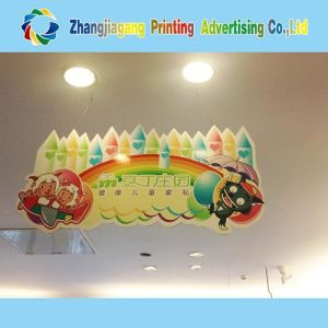 Hanging Die Cut Poster Board for Indoor Advertising pictures & photos